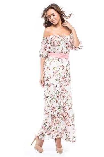 Платье макси  Кармен - фото 4798