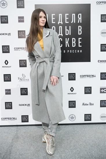 Пальто-халат Журавль серый - фото 5156