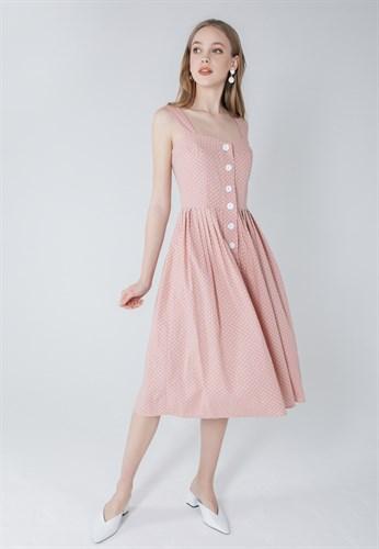 "Сарафан ""Dots"" розовый - фото 5715"