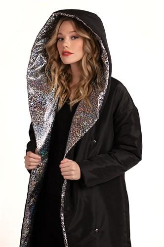 Пальто утепленное Silver cat Black - фото 6225