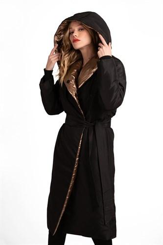 """Пальто утепленное """"Black gold"""" - фото 6289"""