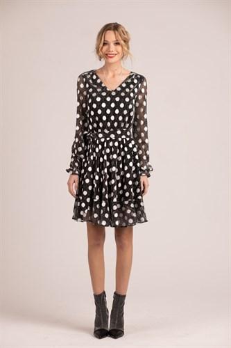 "Платье ""Silver dot black"" - фото 6298"