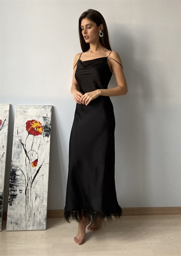 "Платье ""Swan black"" - фото 6798"