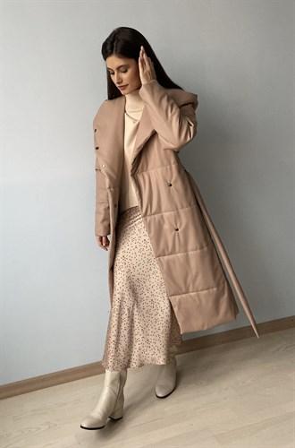 "Пальто утепленное ""Leather"" - фото 6806"