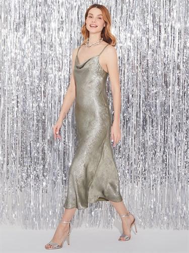 Платье Silver khaki - фото 6825