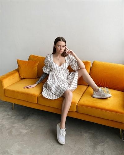 Платье с полосками - фото 6914