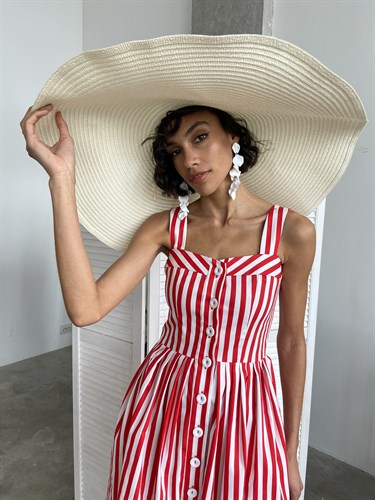 Сарафан Stripes red - фото 7010