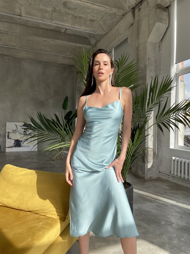 Платье-комбинация Ментол - фото 7091