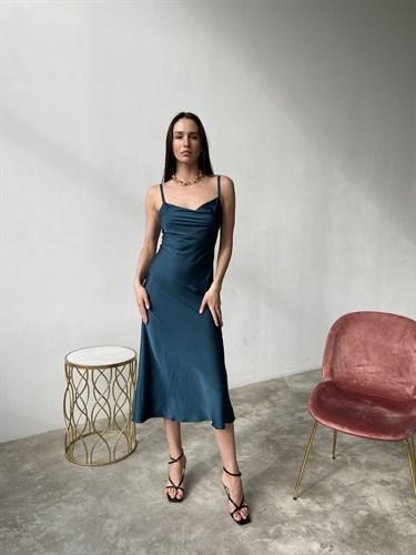 Платье-комбинация Темно-синий - фото 7103