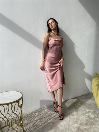 Платье-комбинация Пыльная Роза - фото 7110