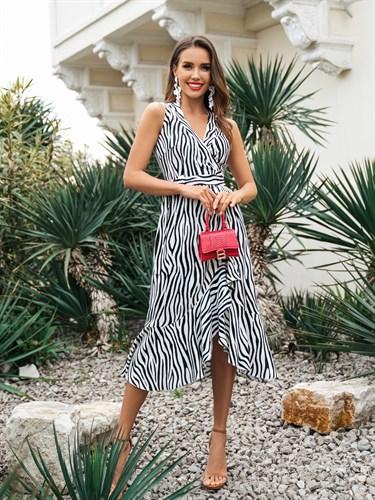 Платье-халат Barcelona Zebra - фото 7282