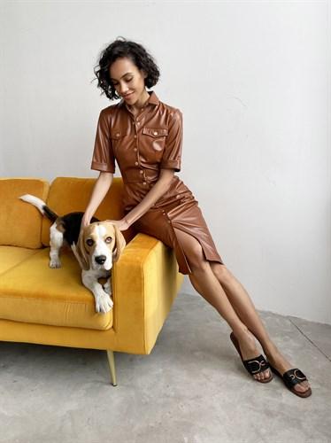 Платье Leather - фото 7316