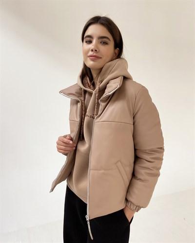 """Куртка """"Leather"""" бежевый - фото 7827"""