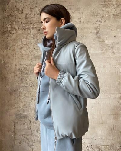 """Куртка """"Leather"""" Blue - фото 7849"""