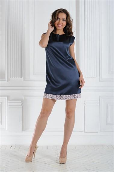 Платье мини  шелковый путь