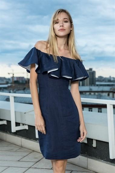 Платье  Кармен-Волан  лен