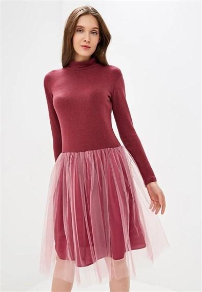 "Платье - водолазка ""Cloud"" зимняя вишня"