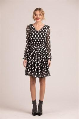 """Платье """"Silver dot black"""""""