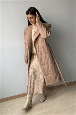 "Пальто утепленное ""Leather"""