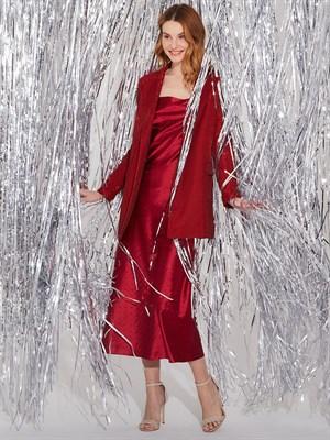Платье Silver red