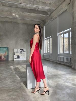 Платье-комбинация Ярко-алый