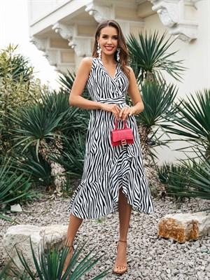 Платье-халат Barcelona Zebra